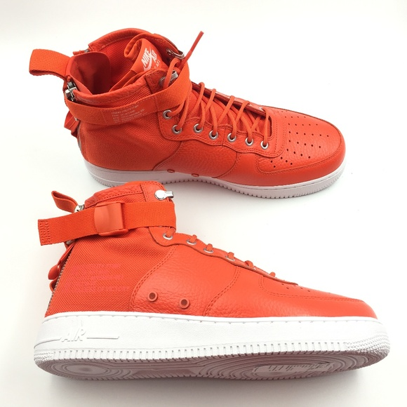Nike Other - Nike Orange Team SF Air Force Mid G0811660